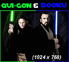 Qui Gon and Dooku Original 1024 x 768