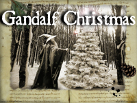 Gandalf Christmas Wallpaper